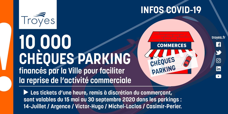 À tous les commerçants : des chèques parking pour offrir 1h de stationnement à vos clients