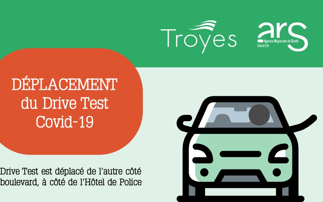 Déplacement du drive test Covid