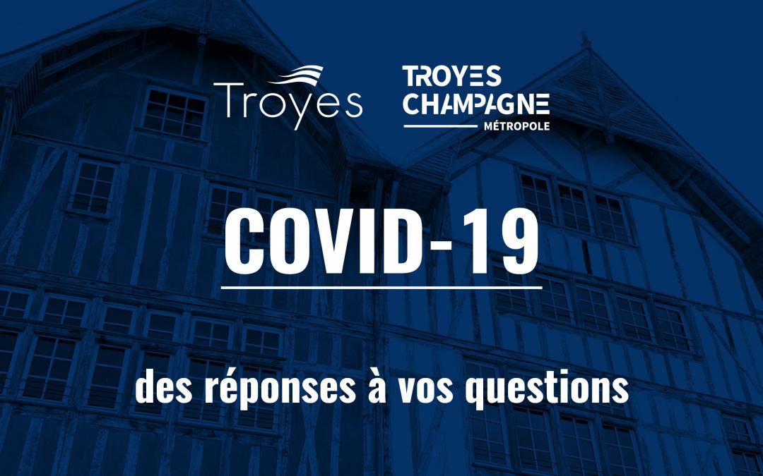 Covid-19 : la Ville de Troyes répond à vos questions