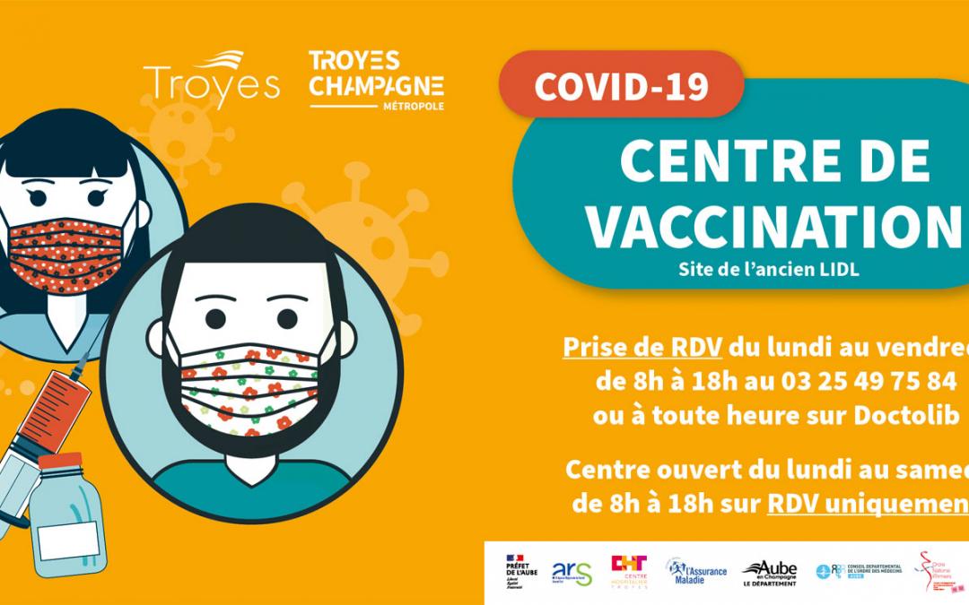 Lancement de la vaccination à Troyes