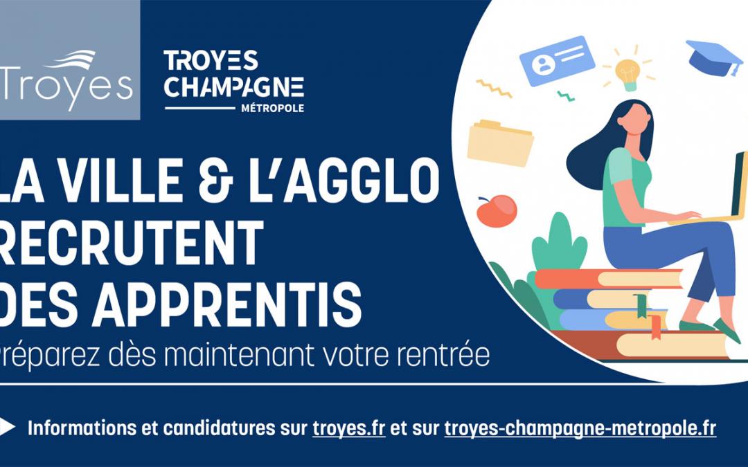 La Ville de Troyes recherche 3 apprentis