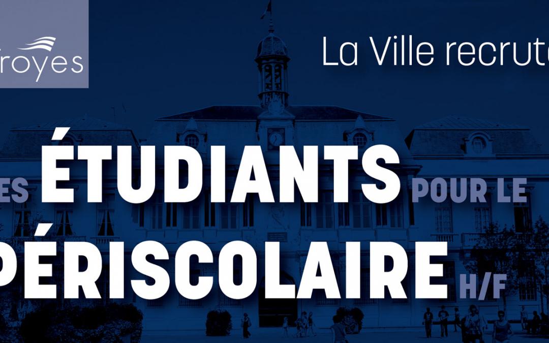 La Ville recrute des étudiants…