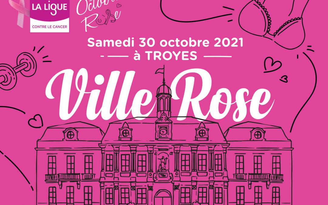 """Troyes, """"Ville rose"""" le temps d'une journée, pour """"Octobre rose"""""""